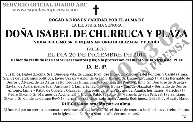 Isabel de Churruca y Plaza